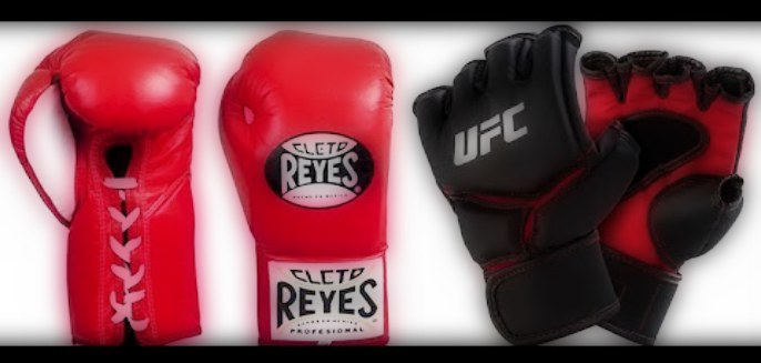 Boxing gloves vs. MMA gloves