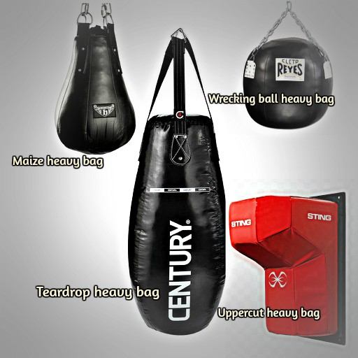 different types of heavy bags
